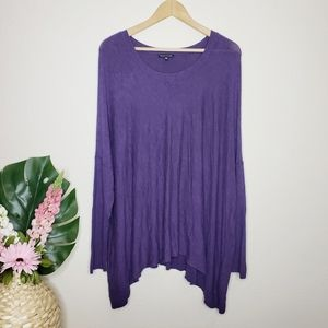 Eileen Fisher Purple Oversized Sweater Tunic